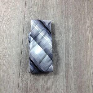 Van Heusen Silver Plaid Tie